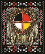 Medicine Wheel Queen Blanket