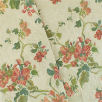 Parchment Ivory/Multi Floral Tapestry Decorating Fabric, Fabric By The Yard