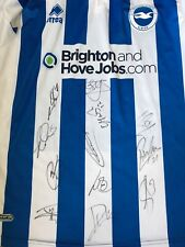 BRIGHTON & HOVE ALBION HAND SIGNED FOOTBALL SHIRT 12 AUTOGRAPHS 12/13 1.