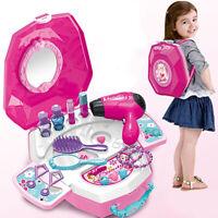 Girls Vanity Beauty Backpack Dresser Princess Play Set Fashion & Makeup