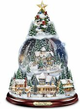 Thomas Kinkade Wondrous Winter Musical Tabletop Christmas Tree Snowglobe: Lights