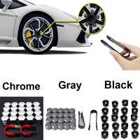 20x Car Hub Screw Cover Wheel Nut Caps Bolt Rims Kits Fit 17mm Wheel Bolts Nuts