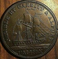 1814 NOVA SCOTIA PAYABLE BY CARRITT AND ALPORT HALF PENNY TOKEN - Breton 881