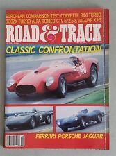 Road & Track April 1986 Ferrari Testa Rossa - Porsche 944 & RSK - Mercedes 300E