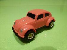 VINTAGE VINYL PLASTIC VW VOLKSWAGEN BEETLE BUG - PINK L7.0cm - GOOD - PULLBACK