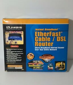 Linksys EtherFast BEFVP41 4-Port 10/100 Wired Router Cable/DSL VPN Router.