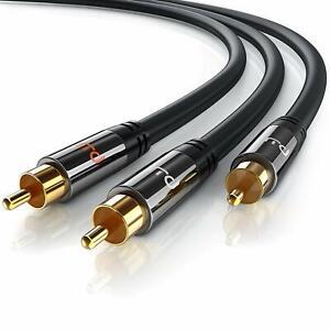 Cavo RCA Audio, Connettore 1x RCA Maschio a 2X RCA Maschio, Spinotto in Metallo