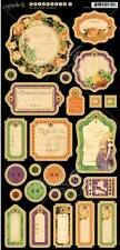"NEW 2014 Graphic 45 ""AN EERIE TALE"" Chipboard #1 - 6""x12"" Sheet 4500949"