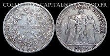 5 Francs Hercule 1874K (Bordeaux) Argent