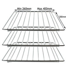 AEG Small Adjustable Extendable Chrome Range Mini Oven Cooker Shelf Rack x 3