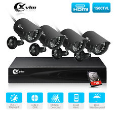 XVIM CCTV Night Vision Outdoor 4CH 1080N DVR Home Security Camera System 1TB HDD