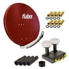 4 Teilnehmer SAT Anlage Fuba DAA 850 R Quad Monoblock LNB LMB ASTRA Hotbird