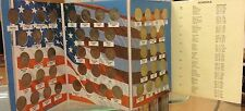 US 50 State Quarters Complete Set DE. to HI. Uncirculated+Obverse Coin in Album