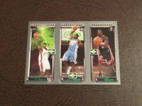 2003-04 Topps Matrix LeBron James Carmelo Anthony Dwyane Wade RC Rookie