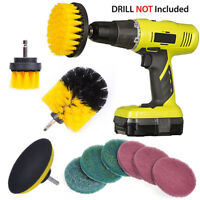 10pcs Drill Brush Attachment Kit Power Scrubbing Brush Scourin Pads Cleaning Kit