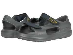 Kids Crocs Swiftwate Expedition Sandal 206267-0GR Grey Charcoal 100% Authentic