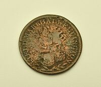 1815 CANADA FIELD MARSHAL WELLINGTON HALF PENNY TOKEN  #SL59