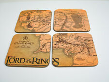 Lord of the Rings Middle Earth Map Drinks COASTER Set