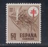 ESPAÑA (1950) MNH NUEVO SIN FIJASELLOS SPAIN - EDIFIL 1086 (50 cts) - LOTE 2