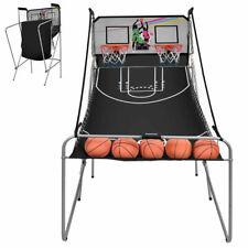 Ultimate Indoor Basketball Game with 2 Hoop Double Shot Electronic 4 Ball Sport