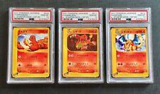 Pokemon PSA 10 Charizard Set 1st Ed. - e-Starter Deck Gem Mint #9-11-12/29