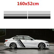 Car Body Side Door Stickers Tricolor Lines Customized Stripes PVC Decal 160x52cm