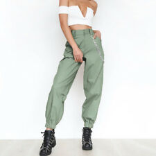 Women Cargo Trousers Casual Hip Hop Dance Pants Military Army Combat Camo Hiking