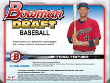 Beau Burrows TIGERS 2018 Bowman DRAFT 10 CASE (8 JUMBO + 2 SJ) PLAYER Break