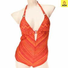 RRP€560 MISSONI MARE Knitted One Piece Swimsuit Size 40 S Metallic Made in Italy