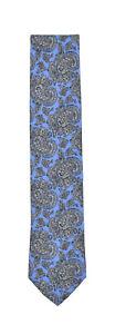 "Brioni Handmade Silk Paisley 3 1/4"" Neck Tie New $230"