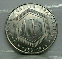 KM# 963 - 1 franc Charles de Gaulle 1988 - SPL - monnaie France - N5969