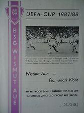 Programm UEFA Cup 1987/88 Wismut Aue - Flamurtari Vlora