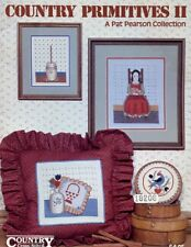 Country Primitives II Folk Art Cat Cross Stitch Pattern Booklet