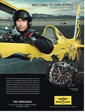 PUBLICITE ADVERTISING 124  2014   BREITLING  montre CHRONOMAT GT BLACK STEEL