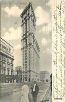 1905 New York City New York Times Building Rotograph postcard 8592