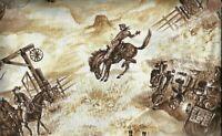 Cowboy Up western cowboy Blank fabric