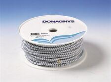 Donaghys Shock Cord Poly Elastic Marine Water Rope 8mm x 50M White Blue Fleck