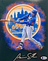 New York Mets Dominic Smith Signed 11 x 14 Photo - Auto Beckett BAS COA