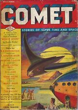 Comet Pulp December 1940 FIRST ISSUE Clark Ashton Smith #1, Manly W Wellman