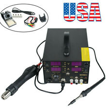 4in 1 909D+ Heat Air Gun Rework Station Soldering iron DC Power Supply 800W 2019