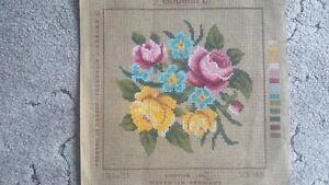 Gobelin Tapestry Canvas. - Roses