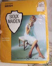 vtg Sioux Maiden Stockings Nip 100% Nylon Seamless Micro Mesh 10 1/2 Med
