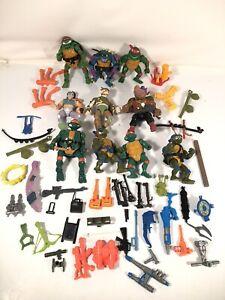 Teenage Mutant Ninja Turtles Vintage TMNT Figure Weapons Parts Lot