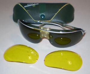 Vintage Baruffadi Aviator Sunglasses extra lens & Case RARE Vintage Sunglasses