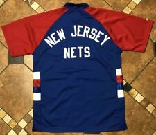 42c4ab315855 Majestic Hardwood Classics New Jersey Nets Game Warmup Sweatsuit Jacket  Mens XL
