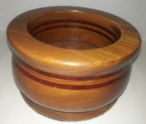 Rare Handcrafted Turned Wood Bowl -Robert Behr Signed