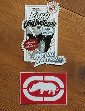 Ecko Unltd Streetwear Skateboard 2 X Sticker Aufkleber Adesivo (S233)