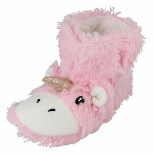 Childrens Spot On Unicorn Bootee Slippers - X2111