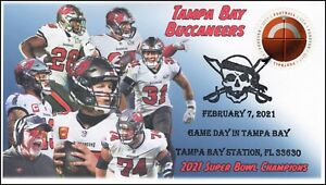 21-037, 2021, Super Bowl, Event Cover, Pictorial Postmark, Football, Tampa Bay,