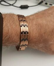 Mens Elegant Pure Copper Magnetic Therapy Bracelet Link Pain Relief Male Jewelry
